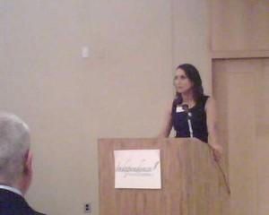 Donna Serdula at the Podium