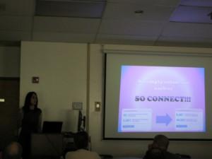 Donna Serdula speaking on LinkedIn as the Social Media Conference, SoMeBizLife