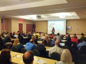 Donna Serdula, delivering the LinkedIn Keynote at the Social Media Mashup Conference
