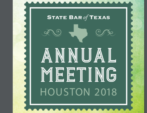 Texas State Bar Annual Meeting Keynote Speaker, 2018, Houston Texas